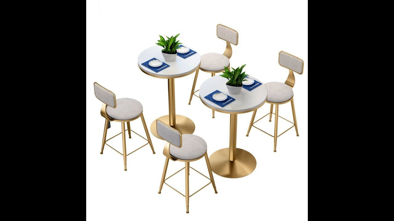 nordic coffee shop table and chair combination simple