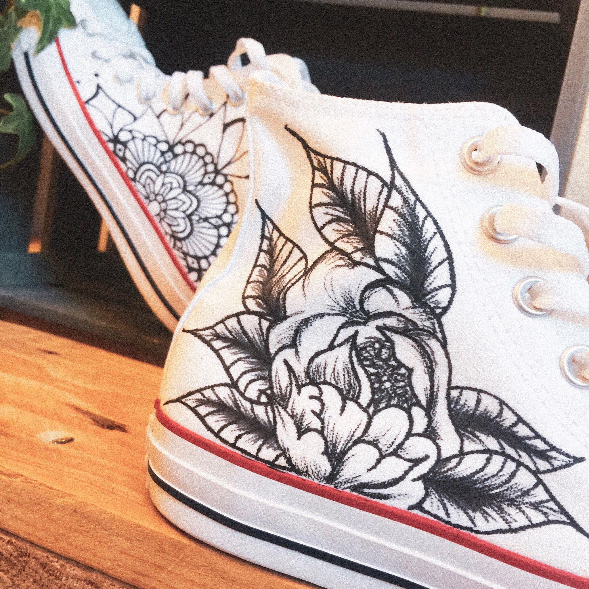 Tattoo Chucks Shoes Diy Chucks Shoes Chucks Wedding Shoes Diy Wedding Shoes