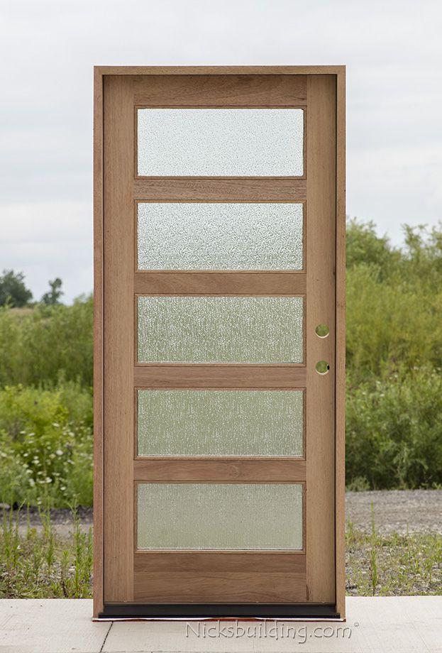 Shaker Exterior Door With Rain Glass Exterior Doors With Glass