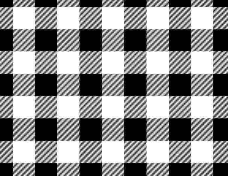 4 Sheets Black//White Buffalo Plaid Woodland Plaid 12x12 Scrapbook Paper