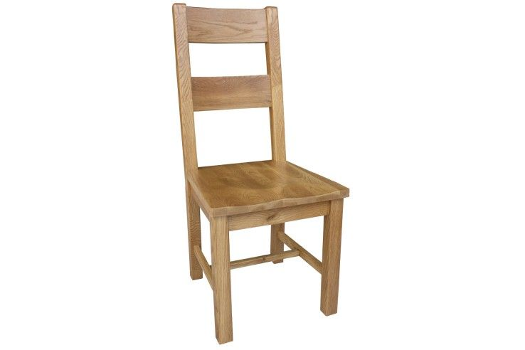 #Oak dining #chair with wooden seat