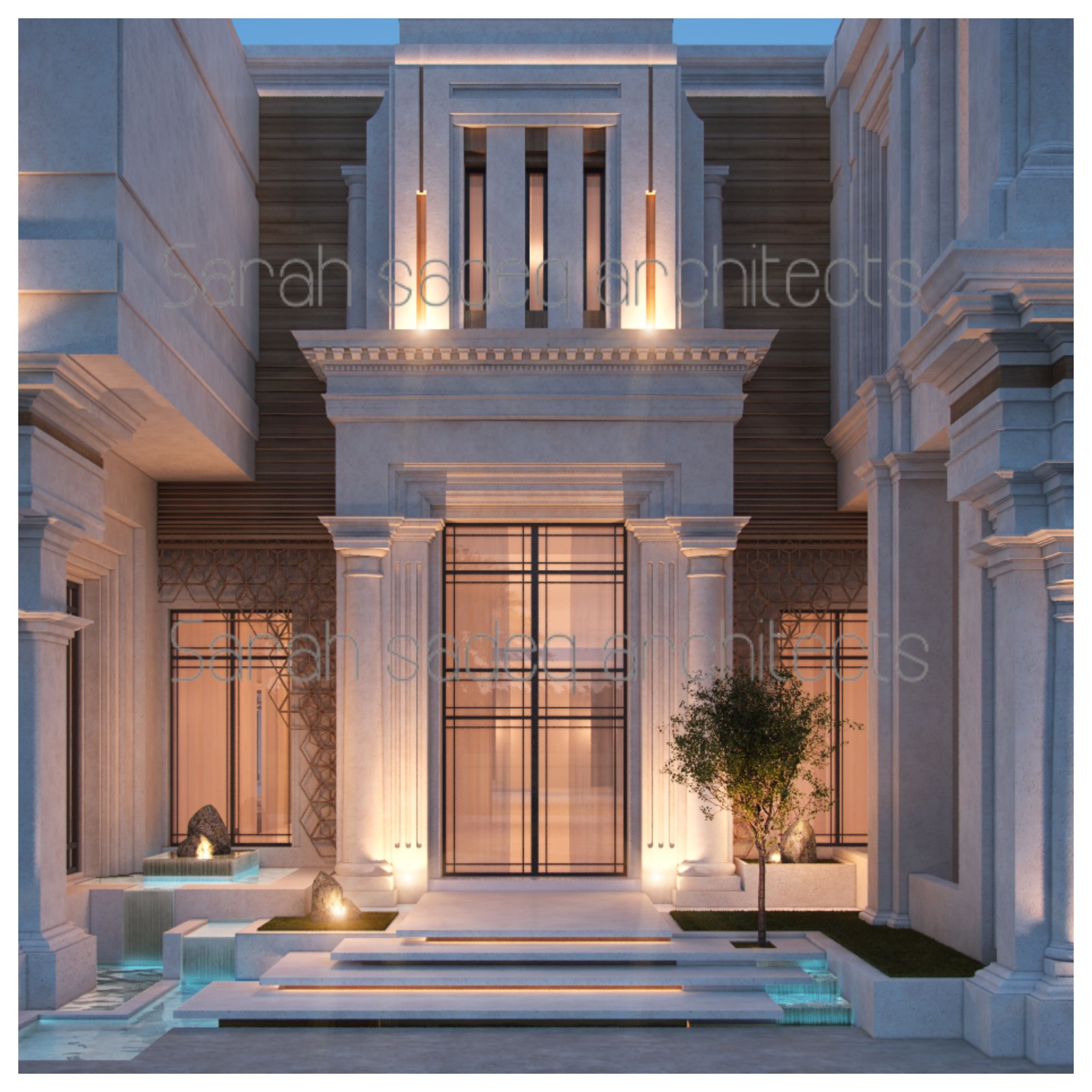 Classical Front Elevation Designs : Private villa uae by sarah sadeq architects