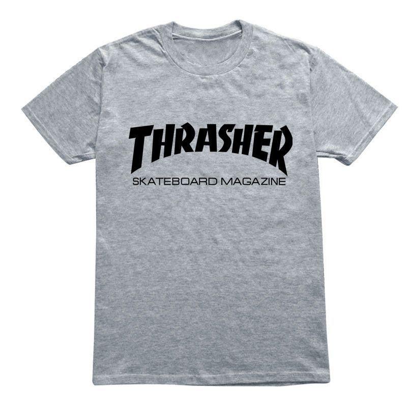 Men Women Skateboard Short Sleeve Thrasher T-shirt  66793ce4d