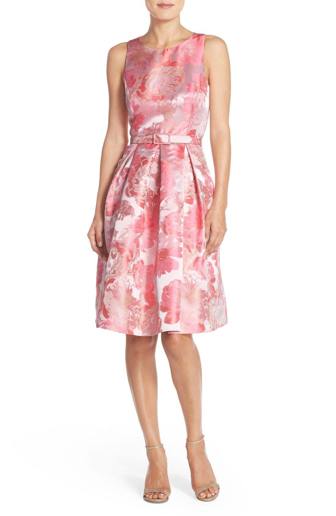 d3ec1d96 Eliza J Floral Metallic Jacquard Fit & Flare Dress | My Wish List in ...