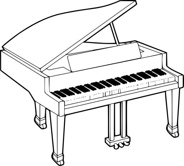 Coloriage Piano Coloriage Musique Coloriage Piano