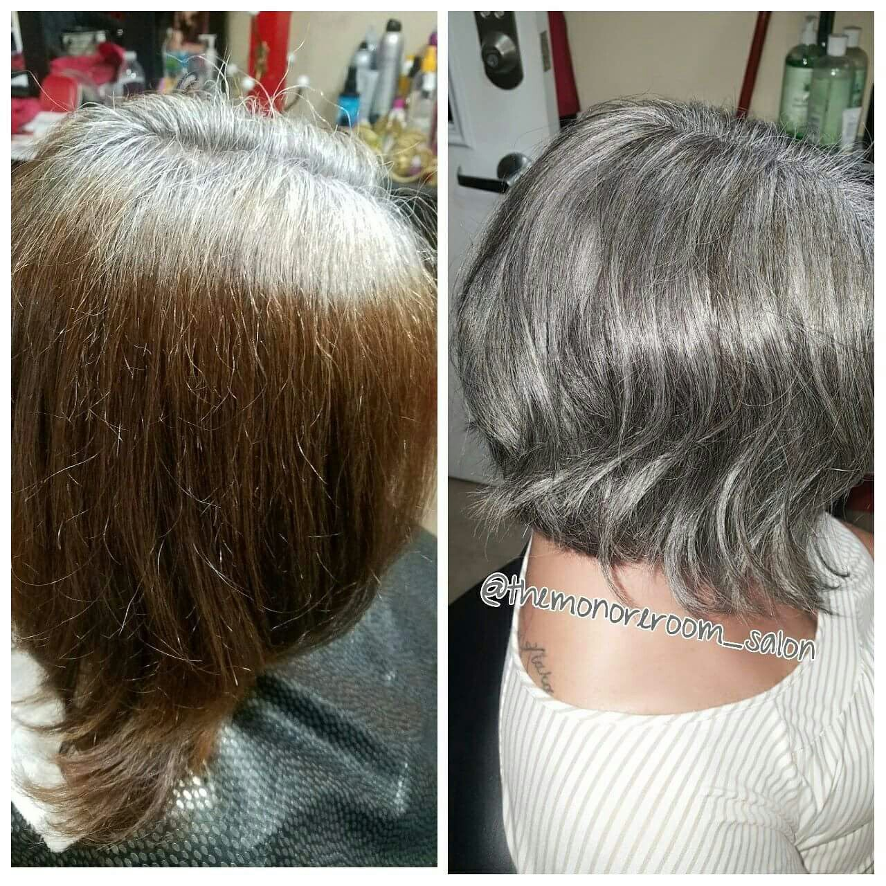 This Is When I First Started Growing Out My Natural Hair Color I Like The Gray But So Far My Hair Doesn Hair Color Natural Hair Styles Natural Hair Color