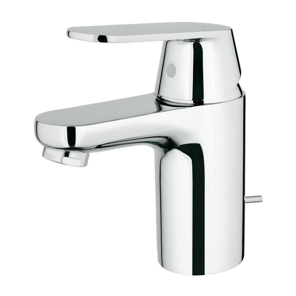 GROHE Eurosmart Cosmopolitan Single Hole Single Handle Bathroom Faucet In  StarLight Chrome 32875000   The Home Depot