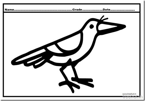 Top 10 Crow Coloring Pages For Your Toddler Crow Coloring Pages