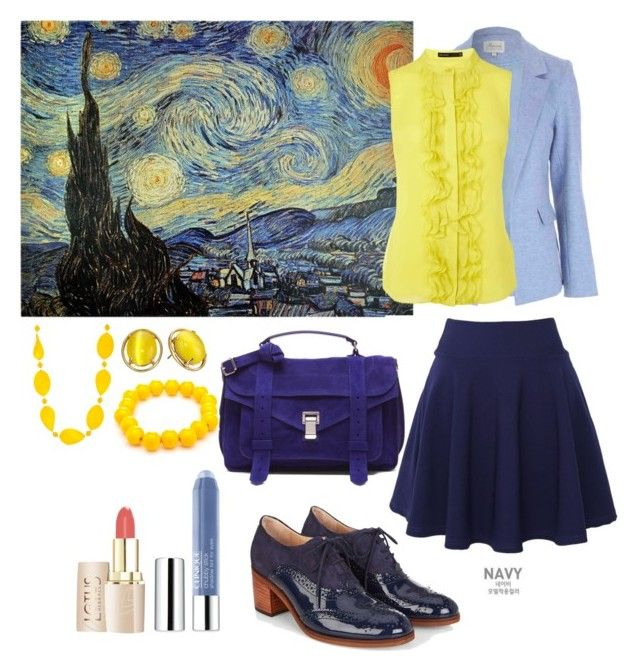 """""""van gogh"""" by poli-96 on Polyvore featuring QNIGIRLS, Monsoon, Proenza Schouler, Kate Spade, Kim Rogers and Clinique"""