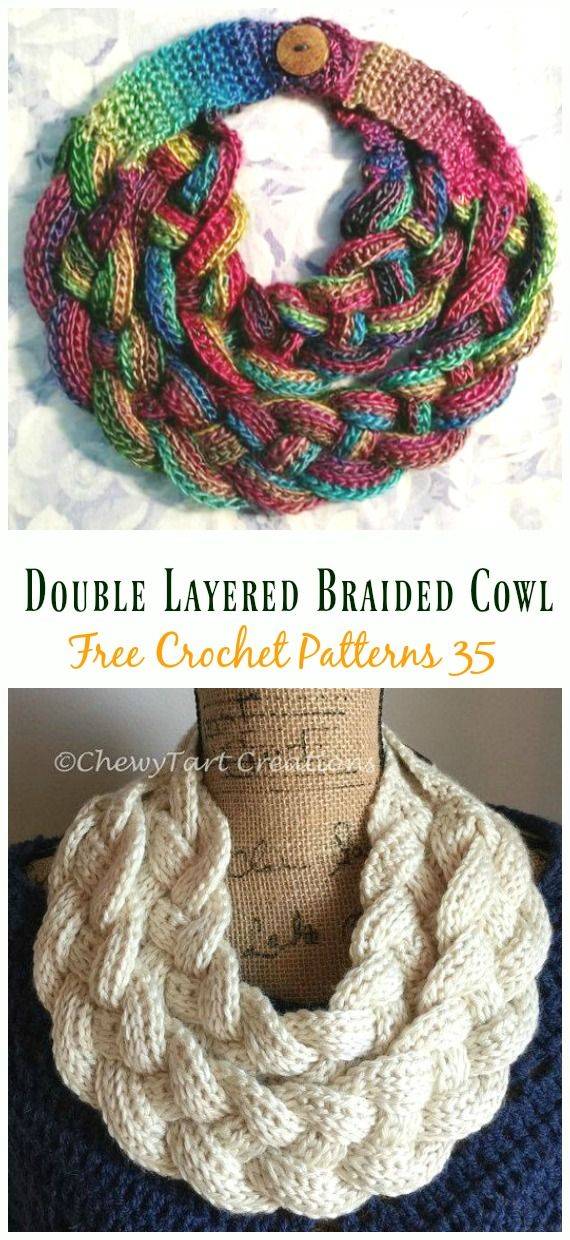 Crochet Infinity Scarf Cowl Neck Warmer Free Patterns & Instructions #crochetscarves