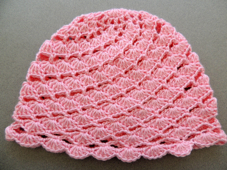 Crochet : Gorro en Conchitas Diagonales. Parte 2 de 2   Arreglos ...