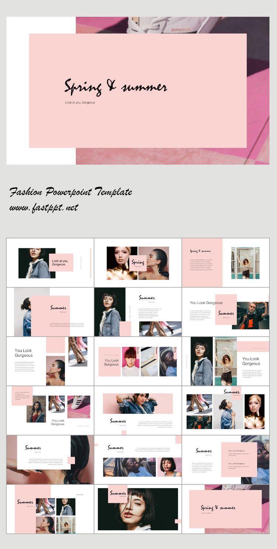 High Fashion Presentation Template Presentation Design Layout Fashion Portfolio Layout Portfolio Design Layout