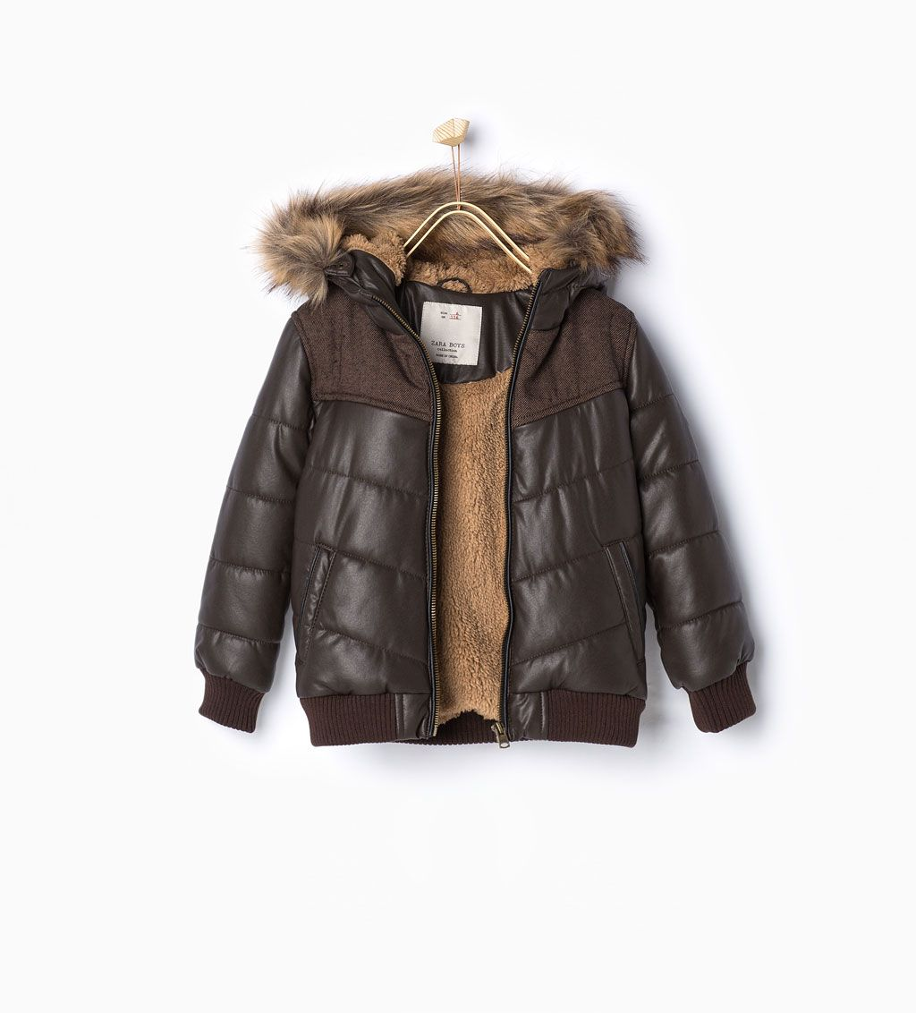 Image 1 of Quilted jacket from Zara | Kids winter jackets ...