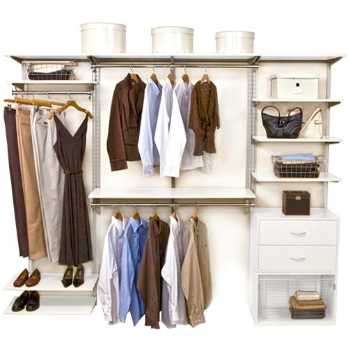 Incroyable Neatly Organize Your Walk In Closet Or Wardrobe Any Way You Want With The  Versatile White