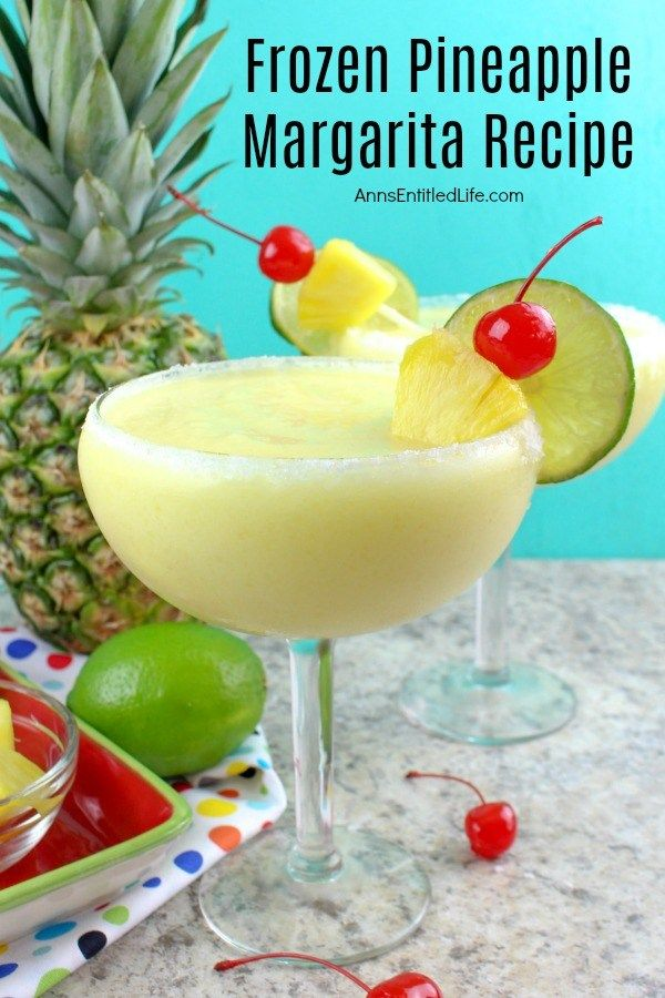 This marvelous and easy to make pineapple margarita recipe is a perfect party cocktail! A tropical delight, this frozen margarita recipe is one delicious adult beverage. Try a frozen pineapple margarita tonight! Frozen Pineapple Margarita Recipe... #frozenmargaritarecipes