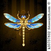 Clip Art of Mechanical Dragonfly k35757832 - Search Clipart, Illustration Posters, Drawings, and EPS Vector Graphics Images - k35757832.jpg