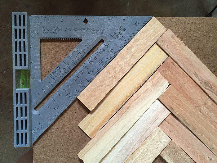 Make Cheap And Easy Wall Art With Wood Shims Wood Wall Art Diy