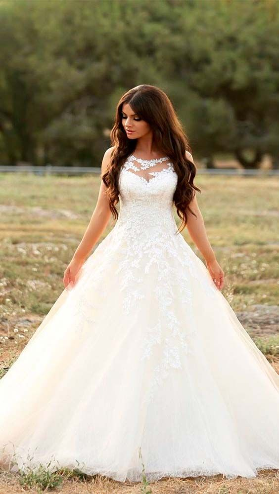63a94dd83 Gorgeous A Line Wedding Dress