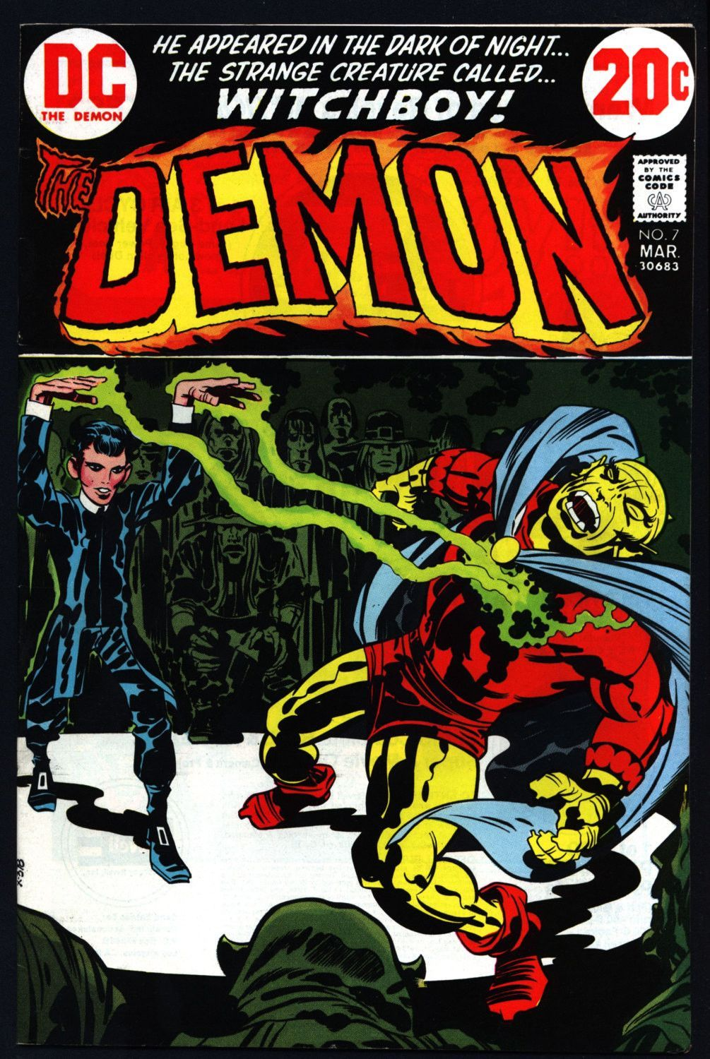 The DEMON #7 1972 Jack Kirby DC Comics Etrigan Camelot Merlin Fourth World Supernatural Cult Monster Anti-SuperHero