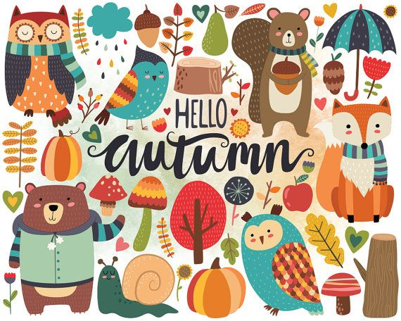Image result for cute autumn clipart