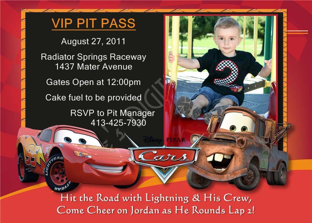 Free Printable Birthday Invitations Cars Disney | KIDS BIRTHDAY ...