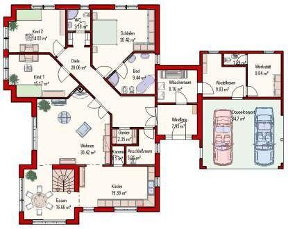 Haus mit doppelgarage grundriss  Die besten 25+ Bungalow mit einliegerwohnung Ideen auf Pinterest ...