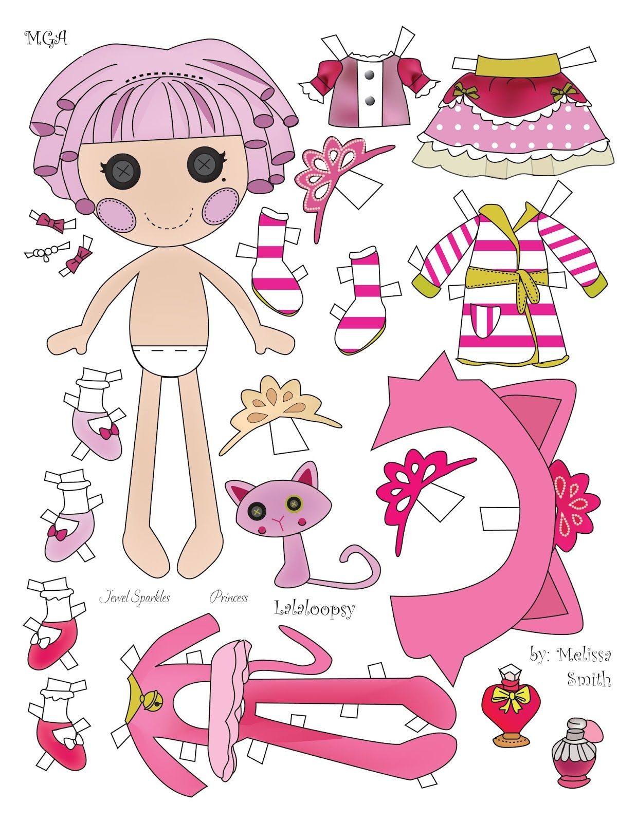 Miss missy paper dolls jewel sparkle paper dolls 11 for Lalaloopsy jewel sparkle coloring pages