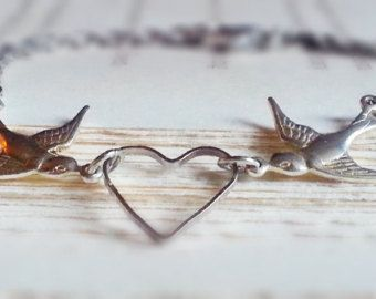 Silver Sparrow Ankle Bracelet Anklet Love Birds Anklet Personalized Silver Anklet Bridesmaid Jewelry Bridal Jewelry Mother's Day Gift