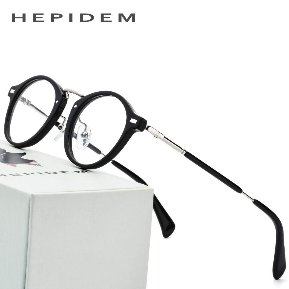 793479b3753 Acetate Optical Glasses Frame Men Metal Small Vintage Round Prescription  Eyeglasses 2018 Fashion Women Myopia Spectacles Eyewear Review