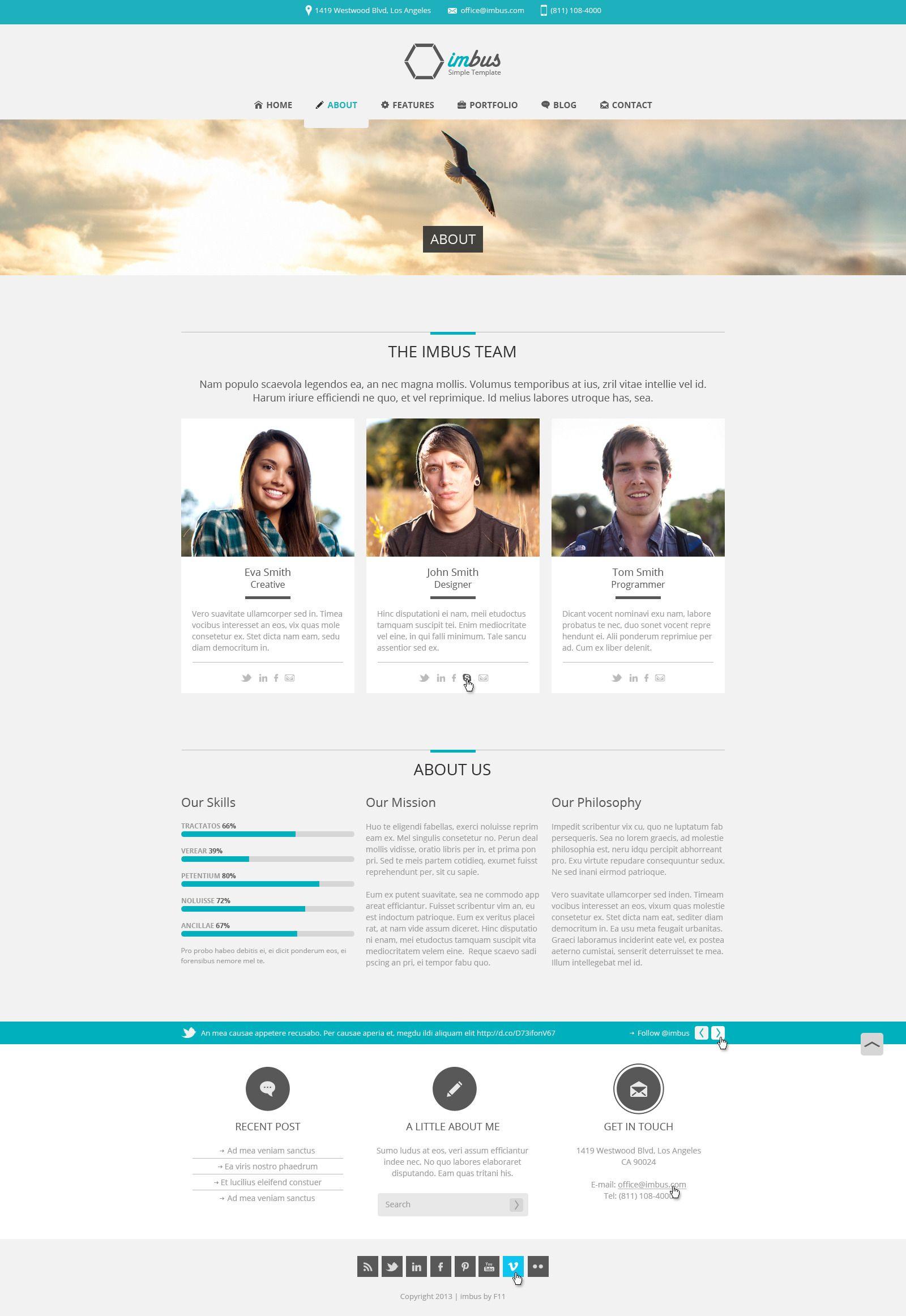 imbus - Simple PSD Template | Plantillas web y Plantas