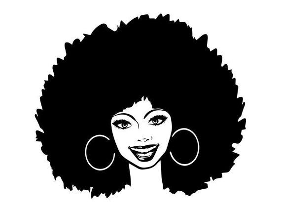 Women Latina Nubian Princess Queen Afro Hair Beautiful African American Female Lady Svg Eps Png Ve Black Girl Art Afro Hair Drawing Silhouette Art