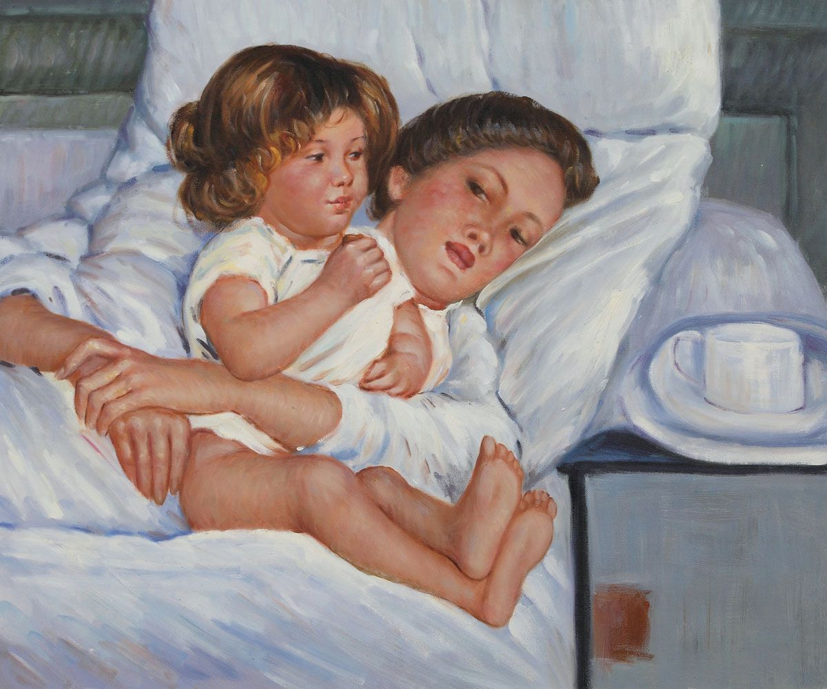 """Mary Cassatt was known for her perceptive depictions of women and children, such as her masterpiece """"Breakfast in Bed."""" #IndependenceDay #art"""