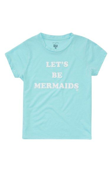 Billabong Let's Be Mermaids Graphic Tee (Little Girls & Big Girls) available at #Nordstrom