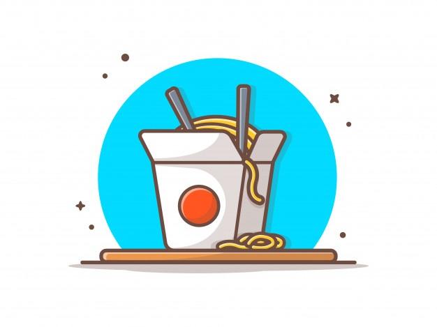 Ramen Noodles Icon Illustration In 2020 Icon Illustration Vector Illustration Cartoon Styles
