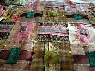 Cloth weaving and kantha stitching