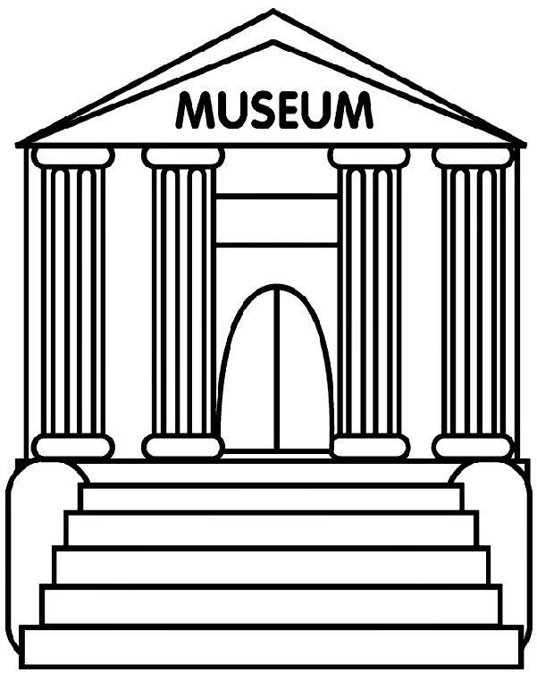 Museum Clipart Black And White | Neighborhood Activities | Pinterest