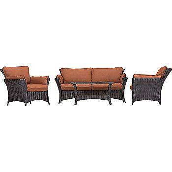 hanover patio furniture. Hanover Outdoor Furniture Strathmere Allure Four-Piece Wicker Patio Set