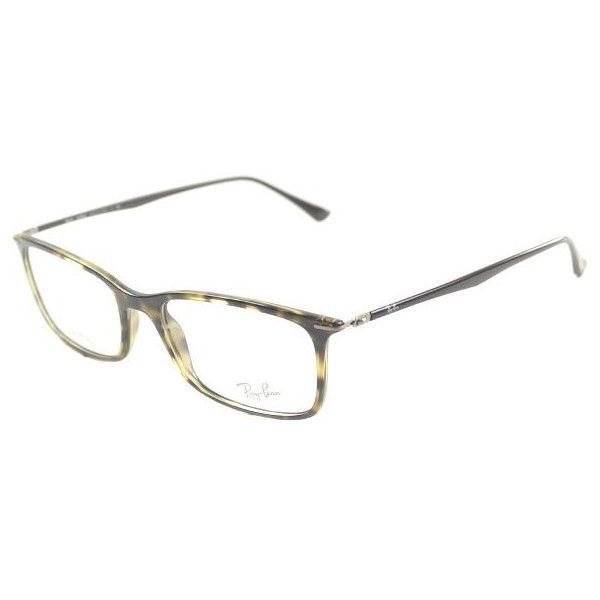 21a43db5325 Ray-Ban Ray Ban Tech RX7031 LightRay 2301 Dark Havana Plastic... ( 192) ❤  liked on Polyvore featuring accessories