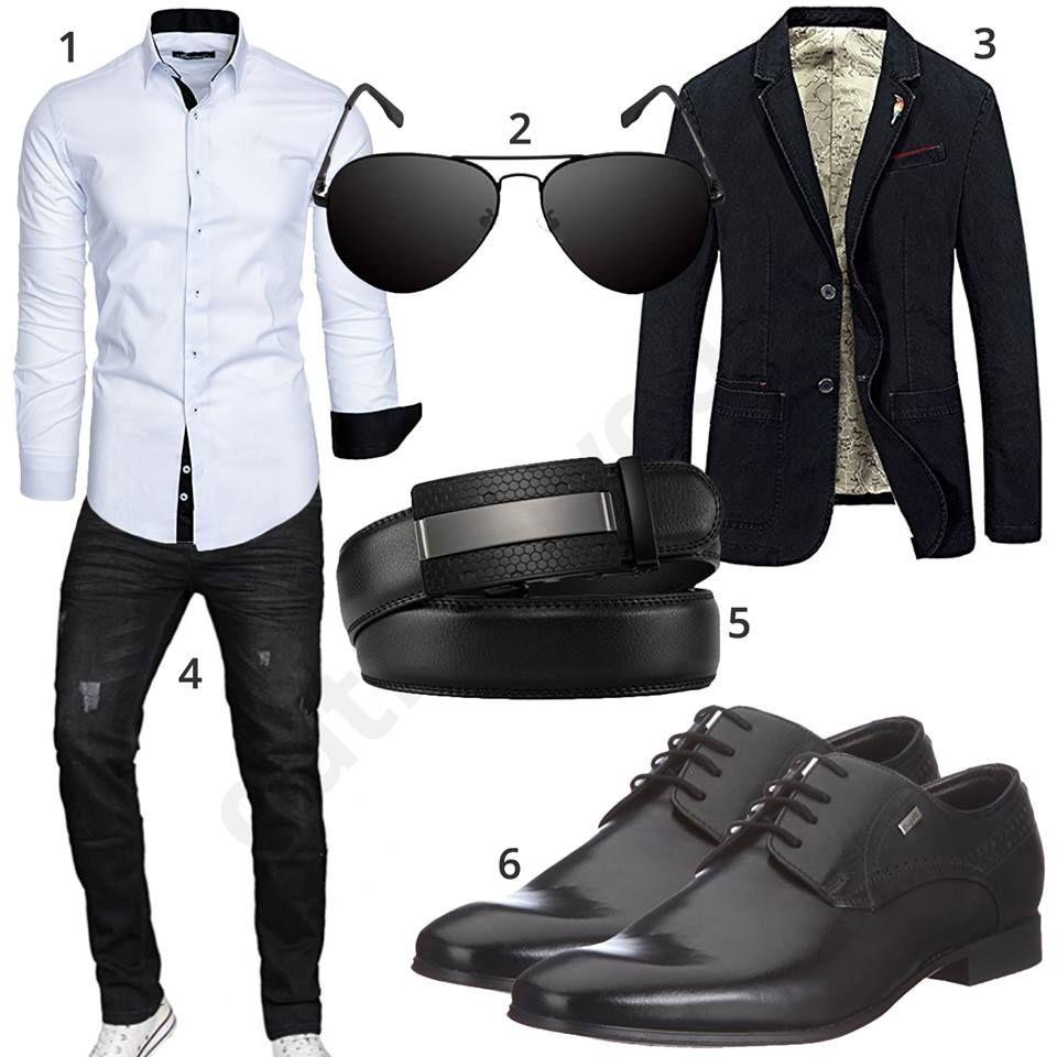 business style mit hemd jeans und sakko street style. Black Bedroom Furniture Sets. Home Design Ideas