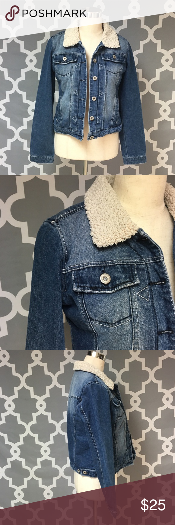 Fleece lined denim jacket denim jackets coats and shoulder