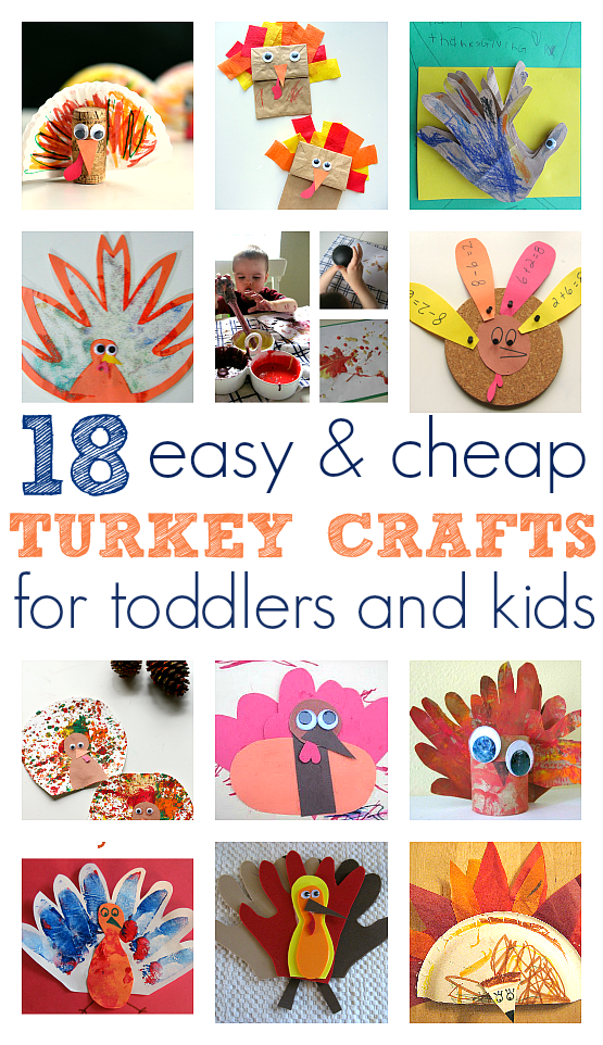 Easy Turkey Crafts For Toddlers and Kids - No Time For Flash Cards