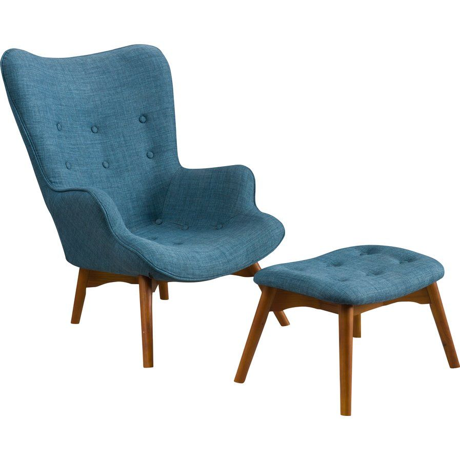 Kick Your Feet Up In The Den Or Give The Guest Suite A Pop Of  Midcentury Inspired Style With This Chic Arm Chair And Ottoman Set,  Featuring Button Tufted ...