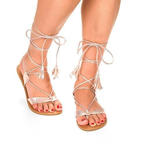 Gladiator Design Flat Sandals New Women Fashion Crisscross