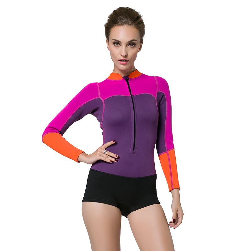 5aac02a8ef0 mm Neoprene Scuba Dive Wetsuit For women Spearfishing Wet Suit Surf Diving  Equipment Split Suits Spear Fishing diving short suit