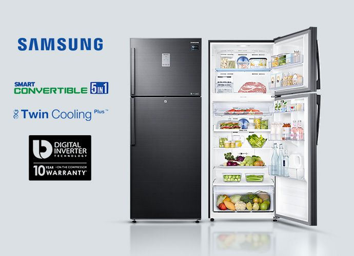 25 Off Samsung Rt49k6338bs Top Mount Freezer With Digital