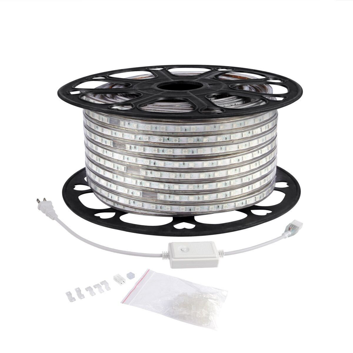 Le 164ft Flexible Led Strip Lights Blue 3000 Units Smd 5050 Leds 720lm M 110 120 V Ac Waterproof Led Rope Lights Flexible Led Strip Lights Strip Lighting