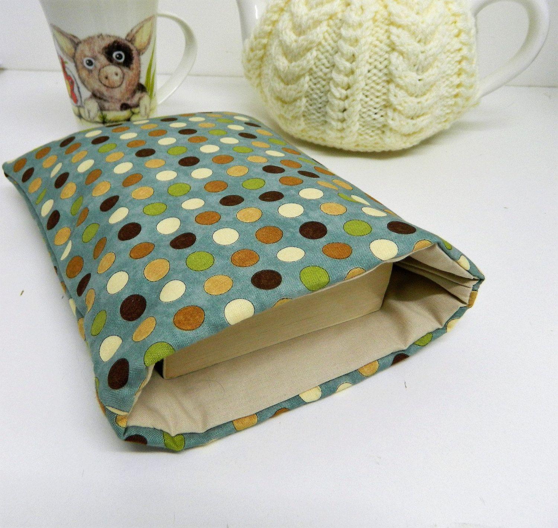 Book Cover Protector ~ Book jacket book case moda fabric paperback protector book