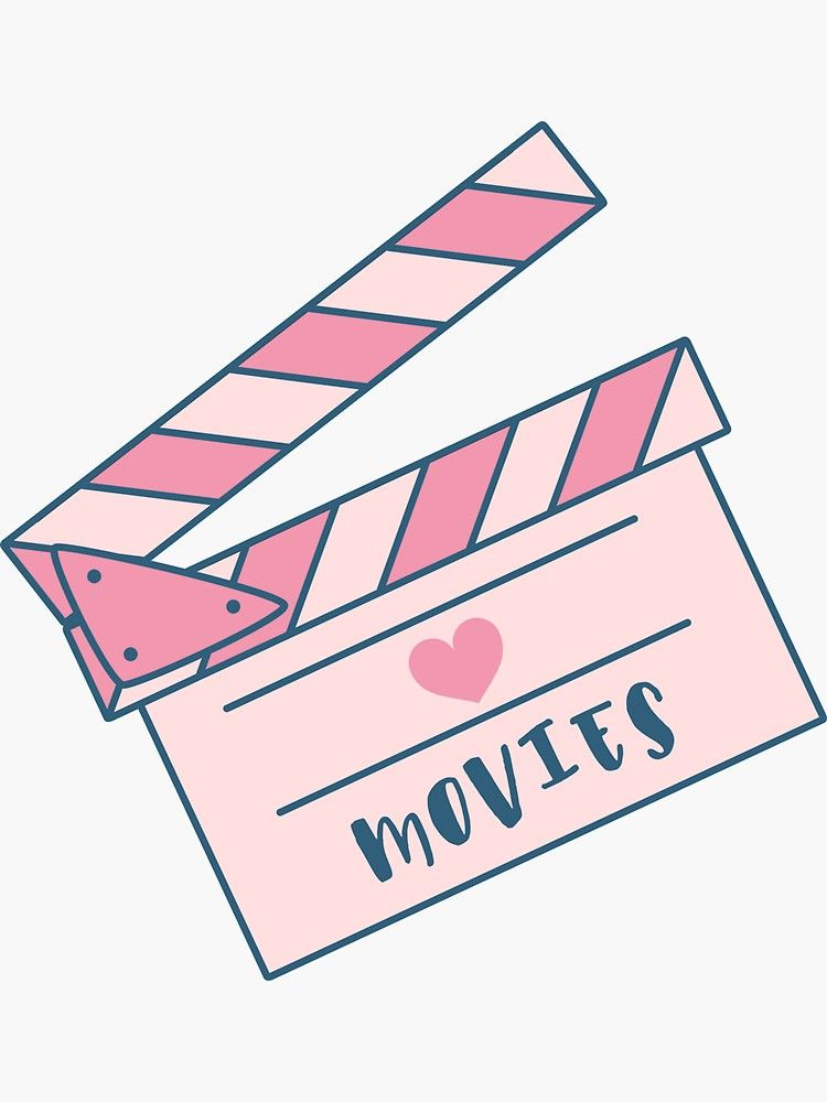 I love movies: cinema clapperboard Sticker by Wlaurence