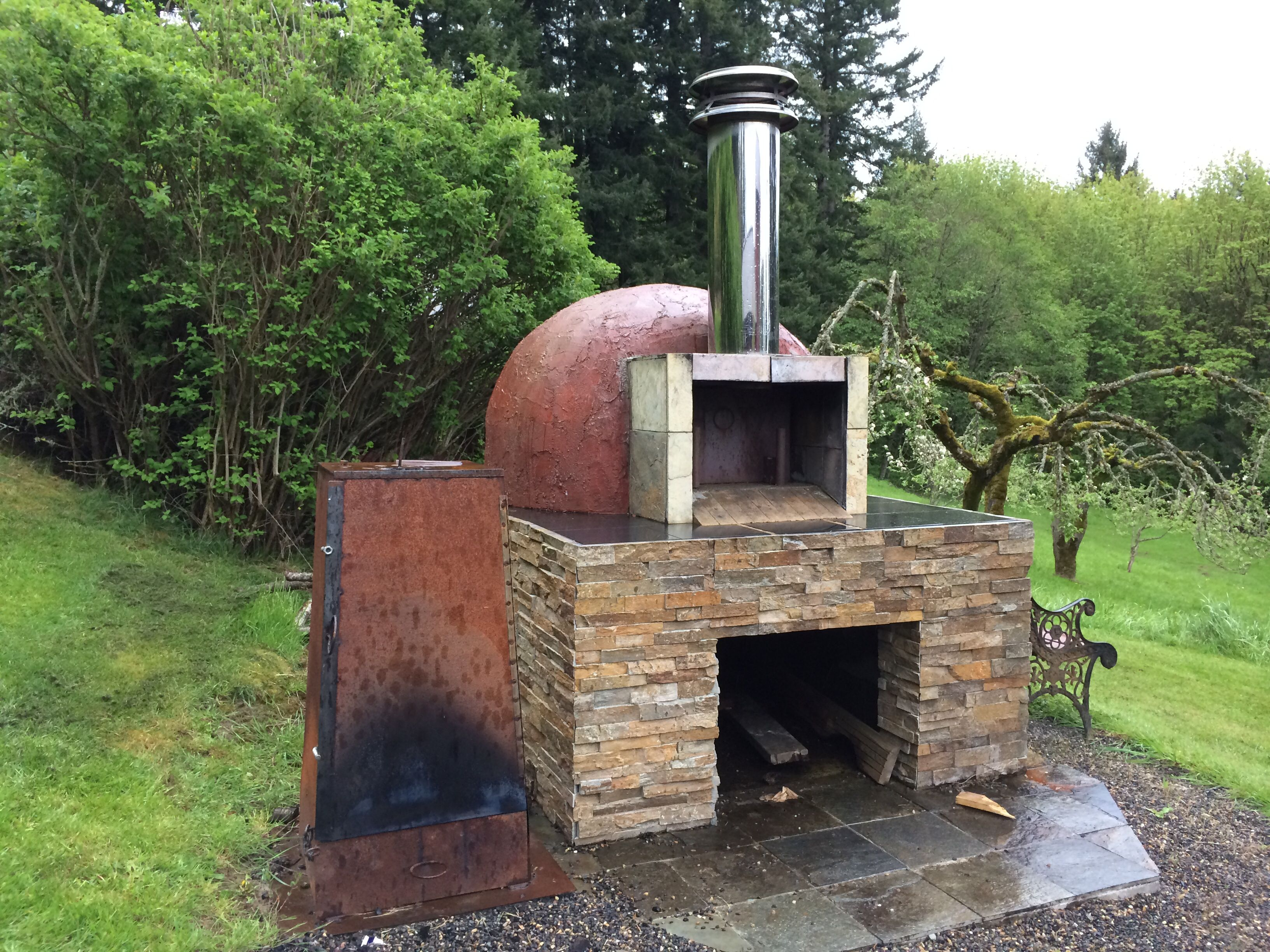 sweet home made pizza oven smoker combo pizza ovens pinterest