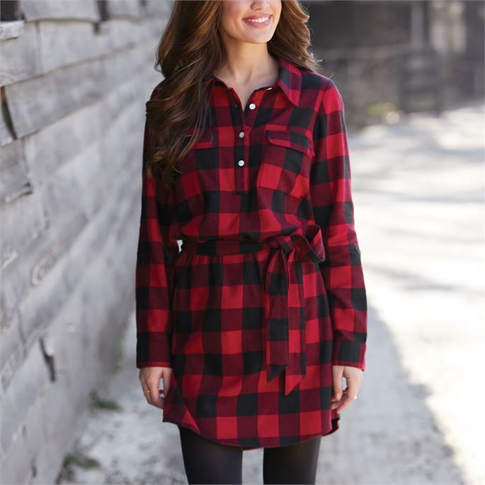 Black dress Sweater Tunic Cotton dress checkered Tunic Tunic dress womens  Tunic Knit tunic